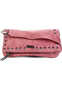 Bolsa Shoestock Tiracolo Spikes Feminina - Feminino-Rosa