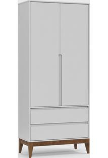 Roupeiro Nature Clean 2 Portas Branco Soft / Eco Wood - Branco - Dafiti