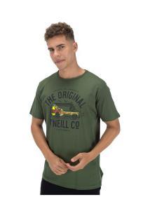 Camiseta O'Neill Estampada Vanster - Masculina - Verde Escuro