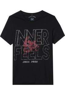 Camiseta John John Rx Inner Feels Malha Algodão Preto Masculina (Preto, Pp)