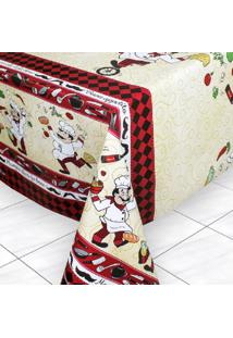 Toalha De Mesa Tã©Rmica Impermeã¡Vel 1,50X1,40 Cheff - Multicolorido - Dafiti