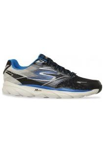 Tenis Skechers Running Go Run Ride 4 Preto Cinza Azul