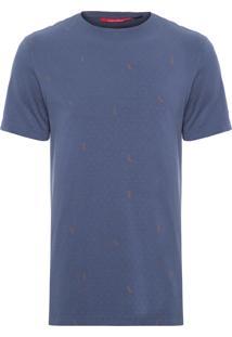 Camiseta Masculina Poá - Azul