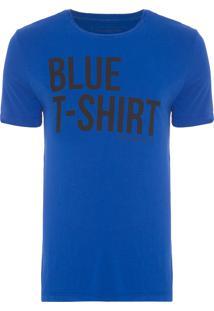 Camiseta Masculina Manga Curta - Azul