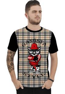 Camiseta Ramavi Xadrez Gansta Curta Preto