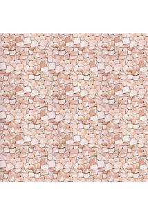 Papel De Parede Pedra 3D Marrom 52Cm Com 10 Metros