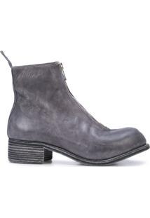 Guidi Ankle Boot Com Zíper - Azul