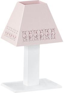 Abajur Flor De Lis Mdf - Rosê - Floral