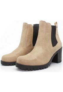 Bota Barth Shoes Bury Resina - Camel - Bege - Feminino - Dafiti