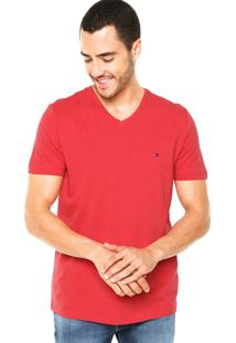 Camiseta Tommy Hilfiger Bordado Vermelha