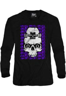 Casaco Moletom Skull Clothing Sk8 Masculino - Masculino-Preto