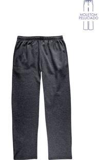 Calça Masculina Básica Em Moletom Peluciado
