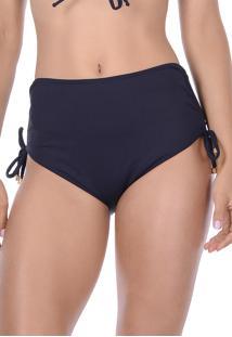 Calcinha Summer Soul Hot Pants Com Amarração Preto - Kanui