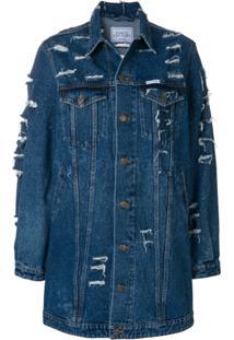 Forte Dei Marmi Couture Jaqueta Jeans Longa - Azul