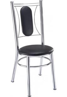 Cadeira Ca 980 Móveis Brastubo Preto