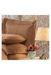 Fronha Para Travesseiro 50X90Cm Matelasse Soft Touch Café Plumasul
