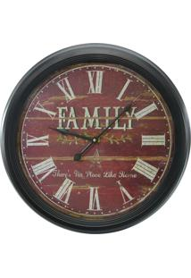 Relógio Kasa Ideia De Parede Family 62Cm