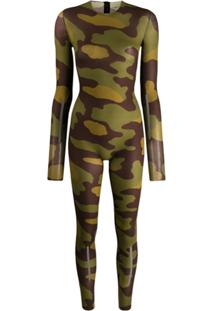 Dsquared2 Body Camuflado Com Stretch - Verde