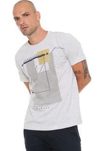 Camiseta Gangster Estampada Cinza