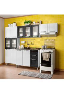 Cozinha Compacta Multipla 14 Pt 2 Gv Branco E Preto
