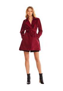 Trench Coat Alfaiataria Vermelho