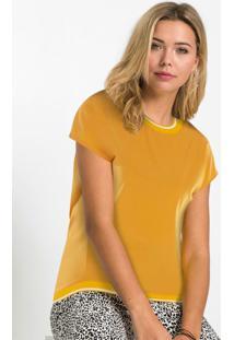 Blusa Com Retilínea Amarela