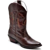 222c960acd0 Bota Top Franca Shoes Texana - Masculino-Café