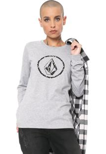 Camiseta Volcom Falling Ditsy Cinza - Kanui