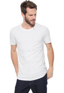 Camiseta Calvin Klein Slim Estampada Branca