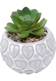 Vaso Heart Shell- Cinza & Branco- 8,5Xø7,5Cm- Ururban