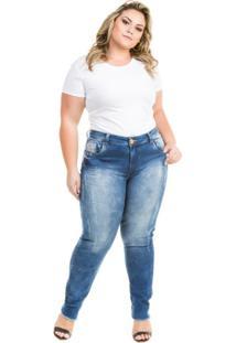 34f2dcc95 ... Calça Confidencial Extra Plus Size Jeans Cropped Porsche Feminina -  Feminino