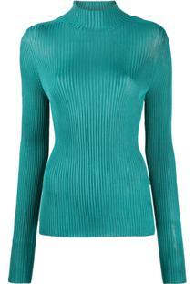 Versace Blusa De Tricô Medusa - Azul