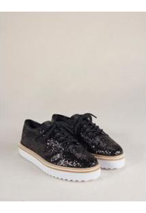 Oxford Glitter Grosso - Preto 34