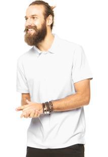 Camisa Polo Timberland Basic Logo Branca