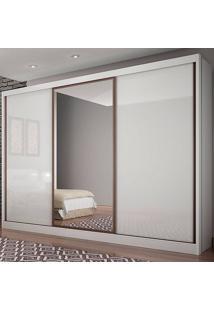 Guarda-Roupa Casal Spazzio 8 Gavetas C/Espelho – Novo Horizonte - Branco