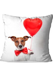 Capa De Almofada Avulsa Decorativa Dog Love 45X45Cm