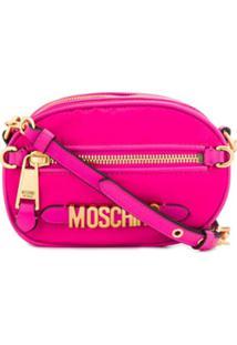 Moschino Bolsa Transversal Pequena Com Logo - Rosa