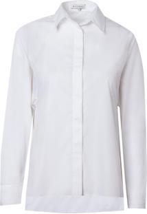 Camisa Le Lis Blanc Mariana Manga Japonesa Alfaiataria Branco Feminina (Branco, 50)