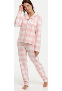 Pijama Feminino Soft Estampa Xadrez Marisa