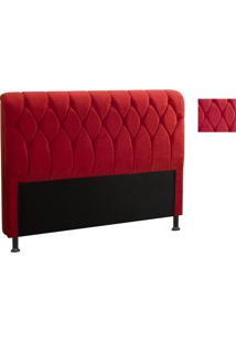 Cabeceira Miami 1,60 Para Cama Box Js Móveis Vermelho Amassado