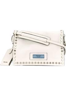 Prada Bolsa Etiquette - Branco