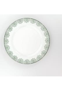 Conjunto De Pratos Rasos Porcelana Schmidt 06 Peças - Dec. Taís