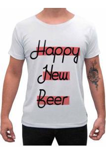 Camiseta Impermanence Estampada Happy New Beer Masculina - Masculino