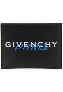 Givenchy Porta-Cartões Com Logo - Preto