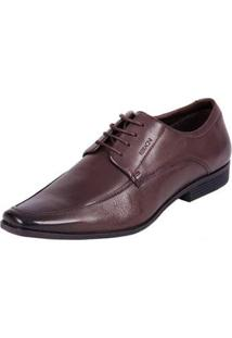 Sapato Social Ferracini Couro Masculino - Masculino-Marrom