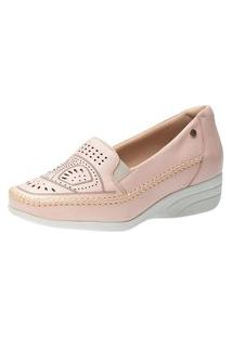 Sapato Anabela Doctor Shoes 3136 Rose