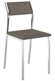Cadeira Carraro 1709 Aço Cromada (2 Unidades) Cro/Conhaque