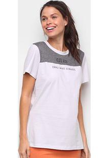 Camiseta Colcci Corpo E Mente Feminina - Feminino-Cinza