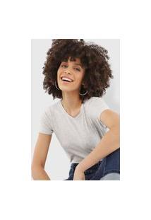 Camiseta Polo Wear Lisa Cinza