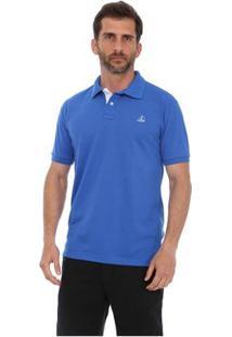 Camisa Polo Clube Náutico Slim Masculino - Masculino-Azul Royal
